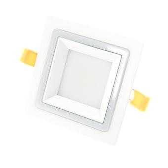 I LumoS 2in1 LED 9 Watt Square Pure & Warm White Recessed Ceiling Down Light