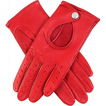 Dents Thruxton Hairsheep Leather Driving Gloves - Berry Red