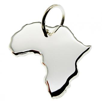 Trailer map Africa pendant in solid 925 Silver