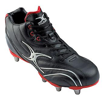 GILBERT esquivar Zenon mediados corte duro Toe botas de Rugby Junior 6 postes