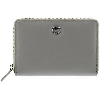 Dents Medium Smooth Leather Purse - Dove Grey