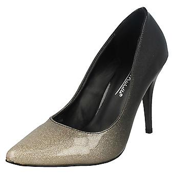 Ladies Anne Michelle High Heel Pointed Toe Court Shoes F90010