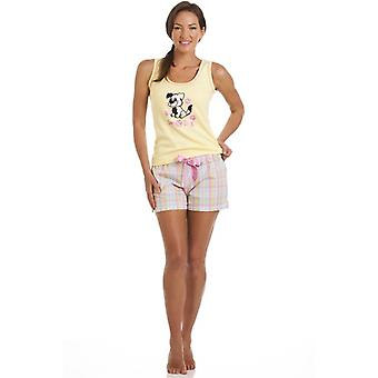 Camille Scruffy Dog Print Short Pyjama