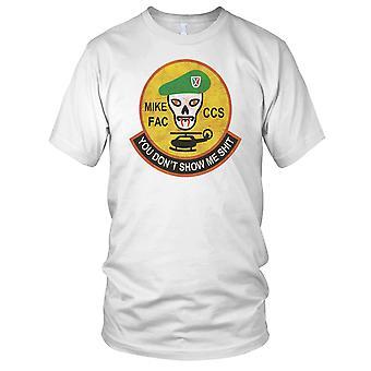 MACV-SOG Mike FAC CCS Vietnam War - Grunge Effect Ladies T Shirt