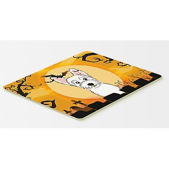 Carolines Schätze BB1784CMT Halloween Westie Küche oder Bad Mat 20 x 30