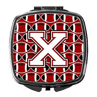 Buchstabe X Fußball Kardinal und weiß Taschenspiegel