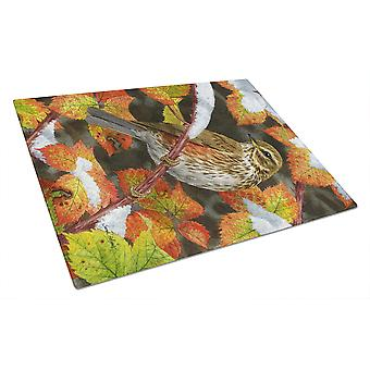 Carolines Treasures  ASA2067LCB Redwing Glass Cutting Board Large