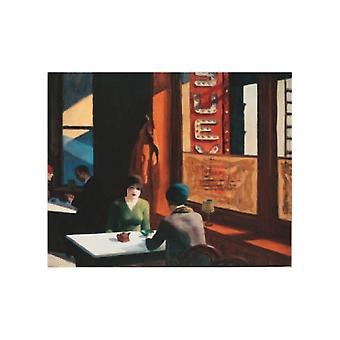 チョップ スーイ ポスター印刷でエドワード ・ ホッパー (16 x 12)
