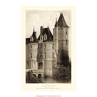Small Sepia Chateaux VII Poster Print by Victor Petit (10 x 15)
