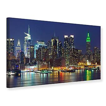Leinwand drucken Skyline New York Midtown in der Nacht