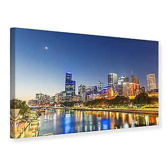 Canvas Print Skyline Sydney At Dusk