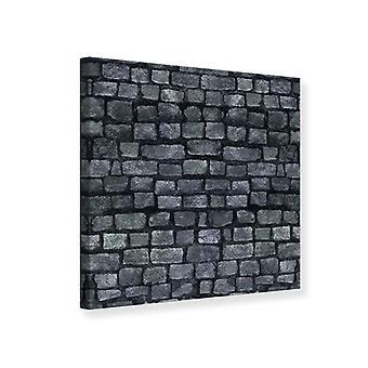 Leinwand drucken graue Steinmauer