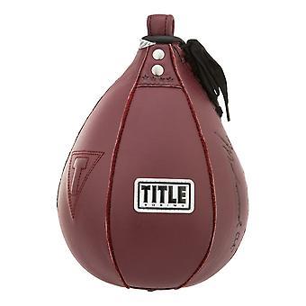 Titel boxning Ali autentiska hastighet läderväska - Maroon