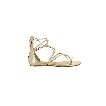 Protection women's S042340060 gold leather sandals