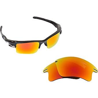 Fast Jacket XL Replacement Lenses Polarized Yellow Red Silver by SEEK fit OAKLEY