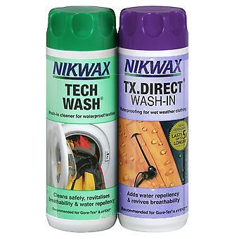 Nikwax Twin Pack Tech vask / TX Direct - 300ml