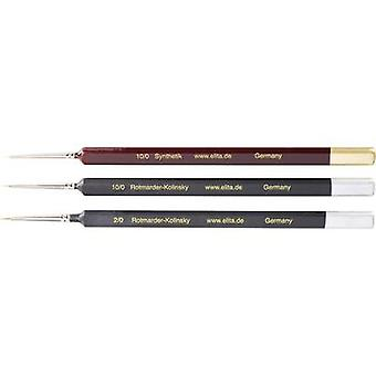 Rotmarder / Synthetic brush, 3 pieces Thickness 10/0, 10/0 and 2/0 Elita 51172