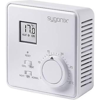 Indoor thermostat Surface-mount 24 h mode 5 up to 30 °C Sygonix