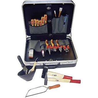 Electrical contractors Tool box (+ tools) 23-piece NWS