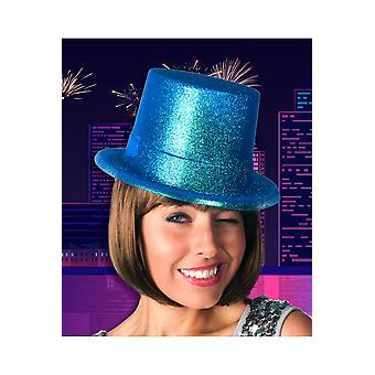 Hats  Turquoise top hat glitter