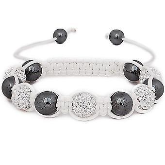 Iced out white unisex bracelet - STRONG SHAMBALLA