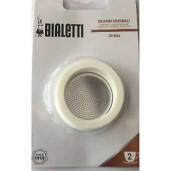 Bialetti - Spare Gaskets and Filter Plate for Brikka - 2 Cup - Blister Pack