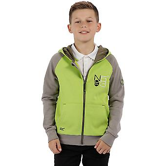 Regatta Boys & Girls Tetra Polycotton Full Zip Hooded Fleece Jacket