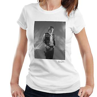 Star Wars Behind The Scenes Han Solo White Women's T-Shirt