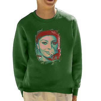 Sophia Loren Screen Siren Rose Effect Kid's Sweatshirt