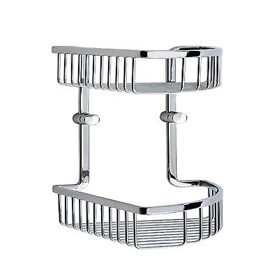 Loft Double Corner Basket - Polished Chrome LK377