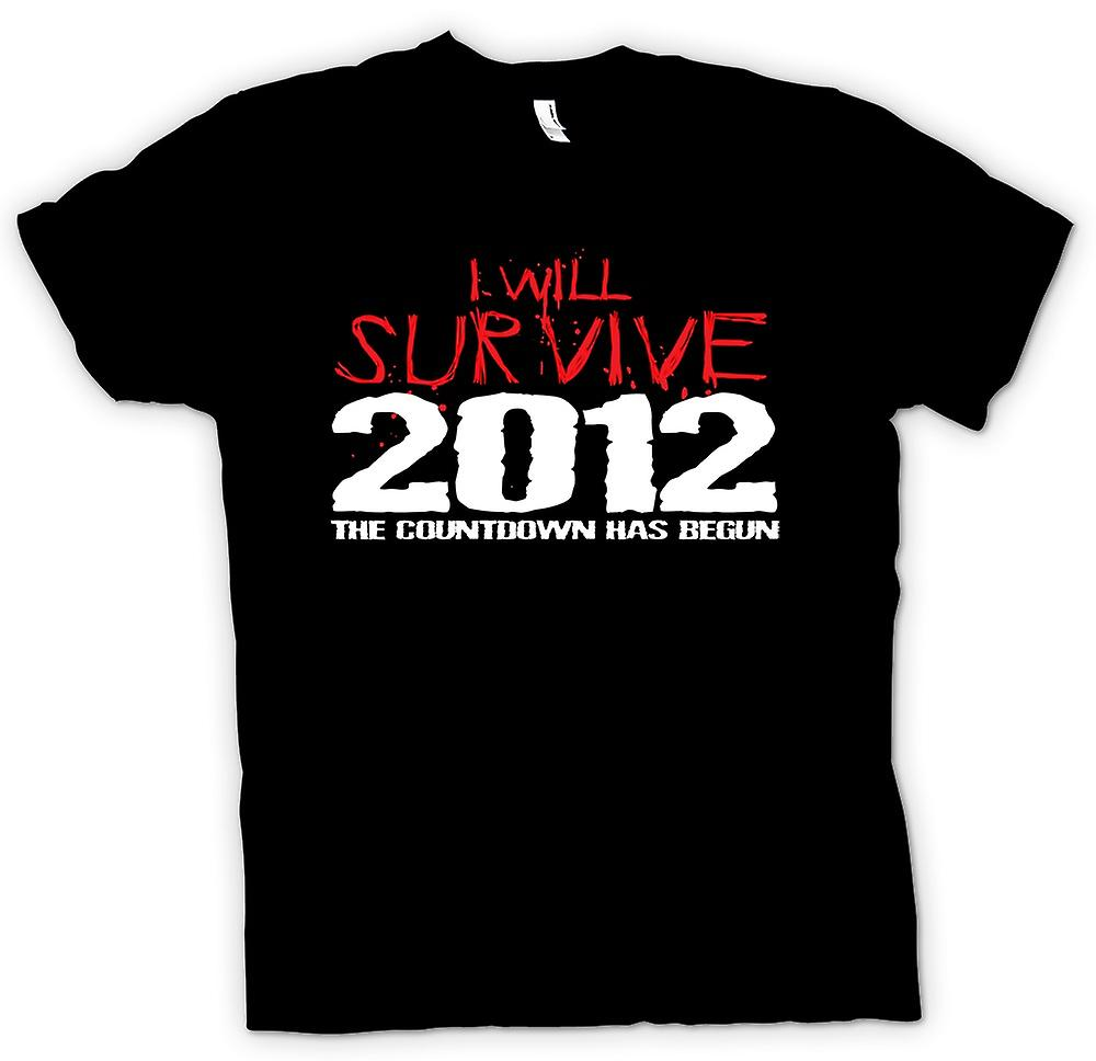 Mens T-shirt - 2012 I Will Survive Apocalypse End Of World