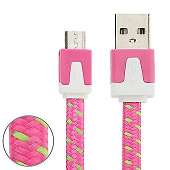 1m USB data and charging cable Pink for all Smartphone and Tablet micro USB
