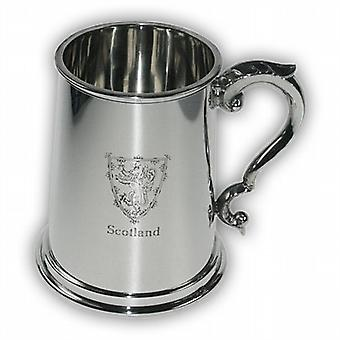 Lion of Scotland Pewter Tankard