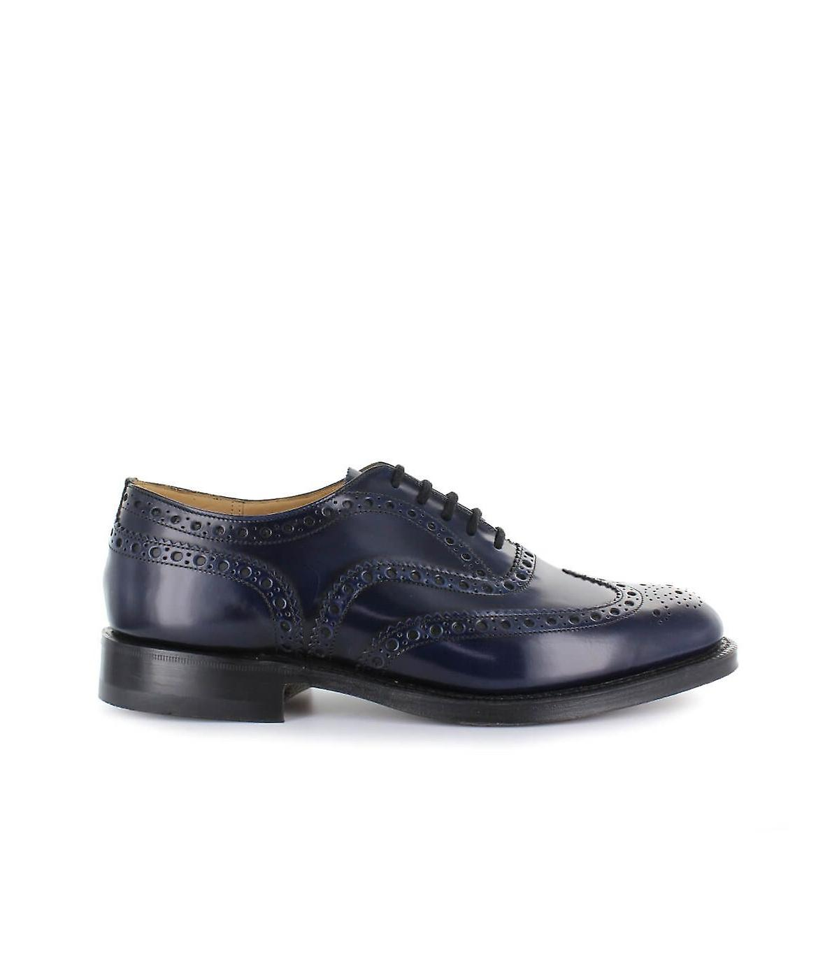 CHURCH'S BURWOOD LIGHT NAVY LACE UP