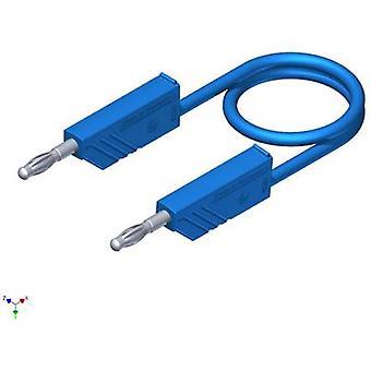 SKS Hirschmann CO MLN 100/2,5 Test lead [Banana jack 4 mm - Banana jack 4 mm] 1 m Blue