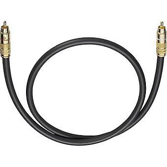 Oehlbach RCA Audio/phono Cable [1x RCA plug (phono) - 1x RCA plug (phono)] 6 m Anthracite gold plated connectors