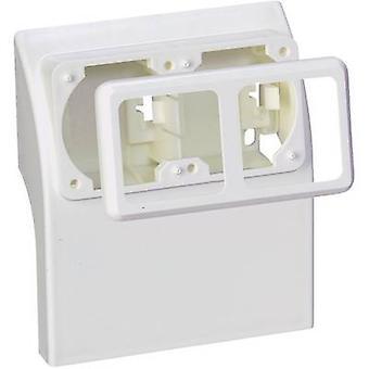 Skirting board Socket inset 75581 White
