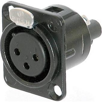 XLR connector Sleeve socket, straight pins Number of pins: 3 Black Neutrik NC3FD-S-1-B 1 pc(s)
