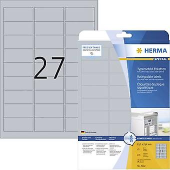 Herma 4222 Labels 63.5 x 29.6 mm Polyester film Si