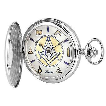 Woodford Masonic Albert Pocket Watch - Silver