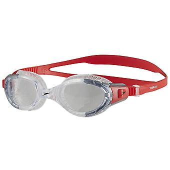 Speedo Futura Biofuse Flexiseal Swim Goggle - Clear Lens - Crystal/Grey