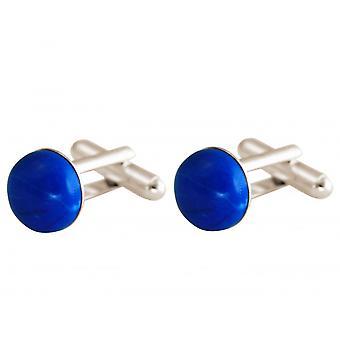 Gemshine - cufflinks - 925 Silver - turquoise - blue - 12 mm