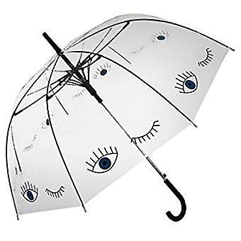 Gerade klare Regenschirm (blaue Augen)
