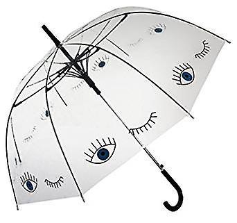 Parapluie transparent droit (yeux bleus)