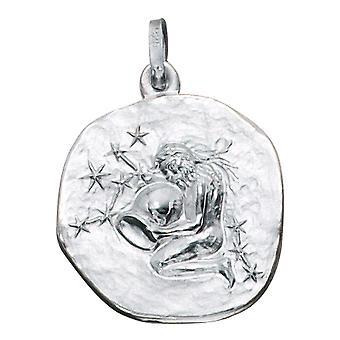 Trailer zodiac sign Aquarius silver sterling silver
