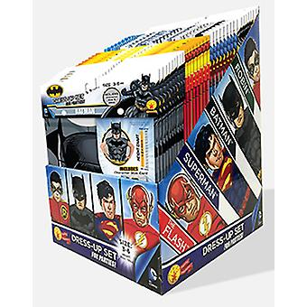 DC boys Party Pack with 36 equally sized Batman, Superman, Flash, and Robin dress Ups for kids