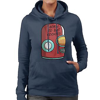 Final Space Gary Born To Eat Cookies Women's Hooded Sweatshirt
