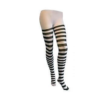 22d4f7abb7a Sale Union Jack Wear Black   White Striped Tights