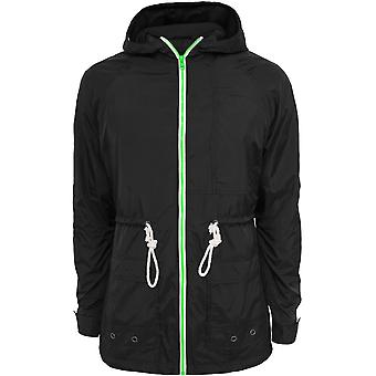 Urban klassikere mænds windbreaker lang nylon