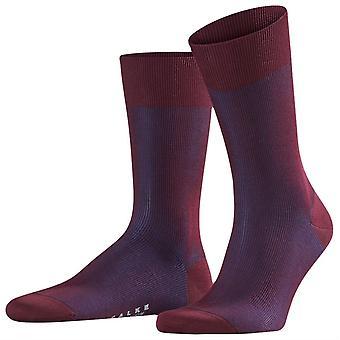 Falke Fine Shadow Midcalf Socks - Barolo Red/Navy
